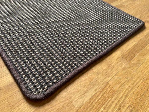 Elfur teppich schwarz-braun Natur-Teppich Öko-Teppich
