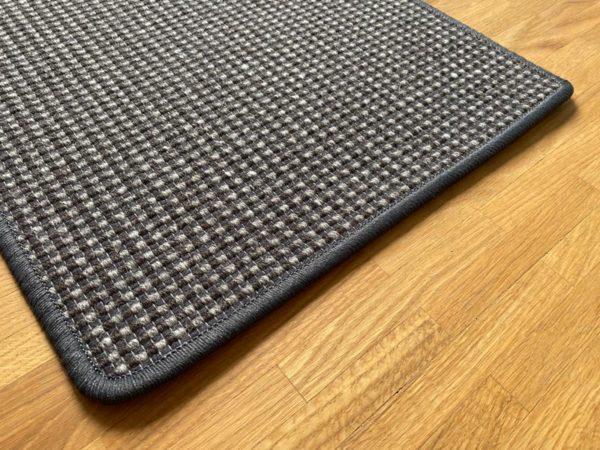 Schwarz-grau Elfur Teppich Natur Öko-Teppich