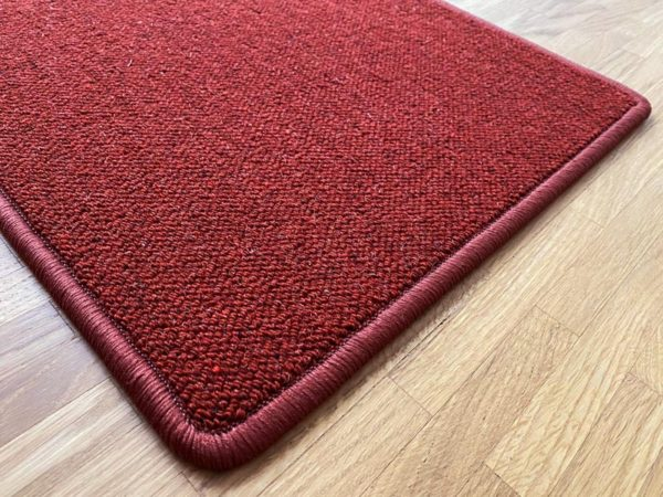 Antares Natur-Teppich Farbe rot