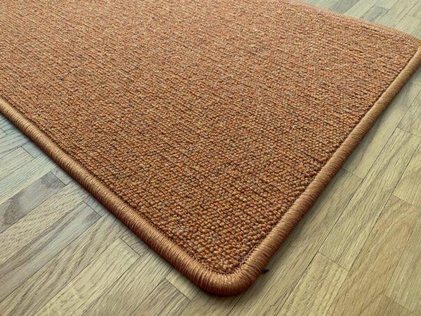 Antares Natur-Teppich Farbe terracotta