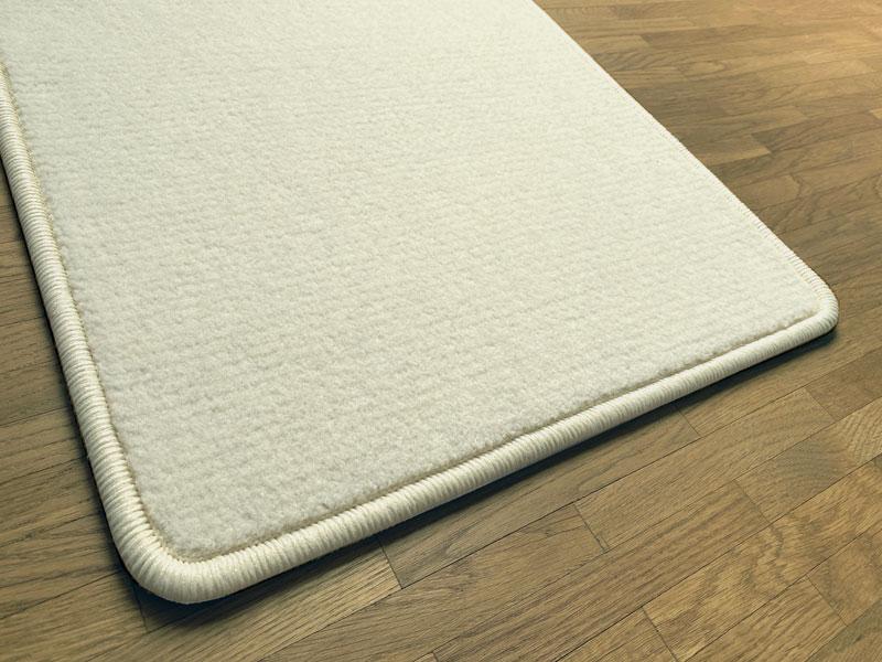 Vatn weisser Teppichboden aus Schafswolle aus Island.
