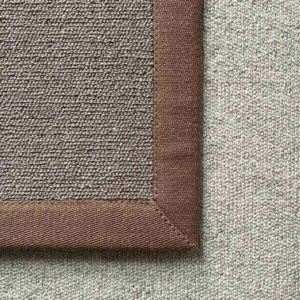 Antares Farbe mittelgrau mit Leinenband braun